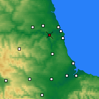 Nearby Forecast Locations - Gateshead - Map