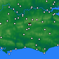 Nearby Forecast Locations - Crawley - Map