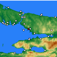 Nearby Forecast Locations - Pendik - Map