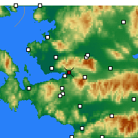 Nearby Forecast Locations - Bornova - Map