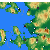 Nearby Forecast Locations - Foça - Map