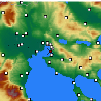 Nearby Forecast Locations - Kalamaria - Map