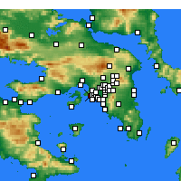Nearby Forecast Locations - Keratsini - Map