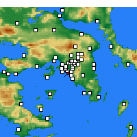 Nearby Forecast Locations - Nea Smyrni - Map