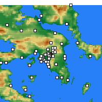 Nearby Forecast Locations - Marousi - Map