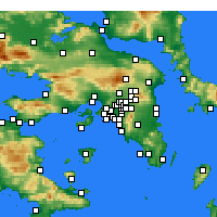 Nearby Forecast Locations - Korydallos - Map