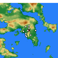 Nearby Forecast Locations - Agia Paraskevi - Map