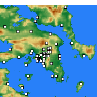 Nearby Forecast Locations - Kifissia - Map