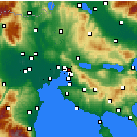 Nearby Forecast Locations - Polichni - Map