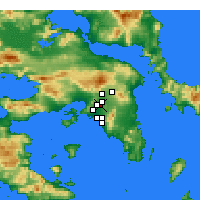 Nearby Forecast Locations - Agioi Anargyroi - Map