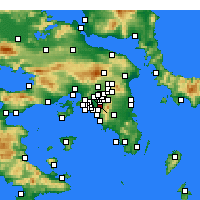 Nearby Forecast Locations - Kaisariani - Map
