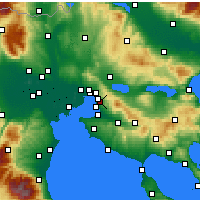 Nearby Forecast Locations - Pylaia - Map
