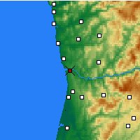 Nearby Forecast Locations - Vila Nova de Gaia - Map