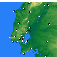 Nearby Forecast Locations - Vila Franca de Xira - Map