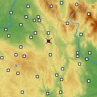 Nearby Forecast Locations - Česká Třebová - Map