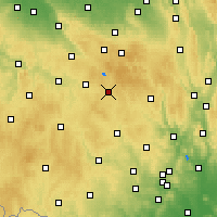 Nearby Forecast Locations - Žďár nad Sázavou - Map