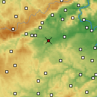 Nearby Forecast Locations - Žatec - Map