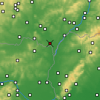 Nearby Forecast Locations - Břeclav - Map