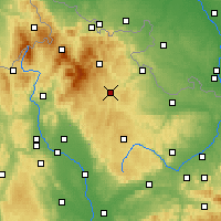 Nearby Forecast Locations - Bruntál - Map