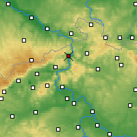 Nearby Forecast Locations - Děčín - Map