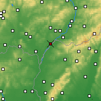 Nearby Forecast Locations - Hodonín - Map