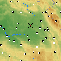Nearby Forecast Locations - Hradec Králové - Map