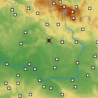 Nearby Forecast Locations - Jičín - Map