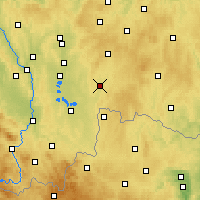 Nearby Forecast Locations - Jindřichův Hradec - Map