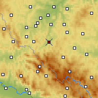 Nearby Forecast Locations - Klatovy - Map