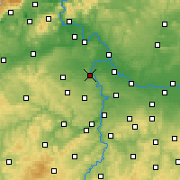 Nearby Forecast Locations - Kralupy nad Vltavou - Map