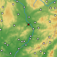 Nearby Forecast Locations - Kroměříž - Map