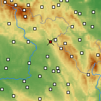 Nearby Forecast Locations - Náchod - Map