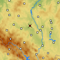 Nearby Forecast Locations - Písek - Map