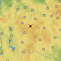 Nearby Forecast Locations - Pelhřimov - Map