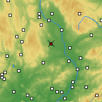 Nearby Forecast Locations - Prostějov - Map