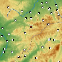 Nearby Forecast Locations - Rožnov pod Radhoštěm - Map