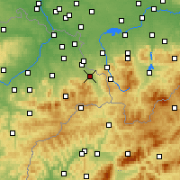 Nearby Forecast Locations - Třinec - Map