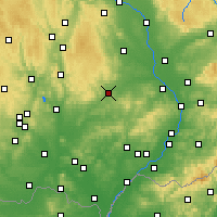 Nearby Forecast Locations - Vyškov - Map
