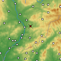 Nearby Forecast Locations - Zlín - Map