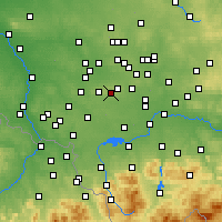Nearby Forecast Locations - Łaziska Górne - Map
