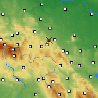 Nearby Forecast Locations - Świebodzice - Map
