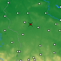 Nearby Forecast Locations - Żagań - Map