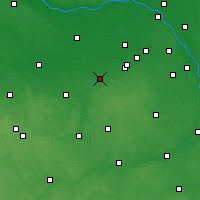 Nearby Forecast Locations - Żyrardów - Map