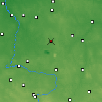 Nearby Forecast Locations - Bełchatów - Map