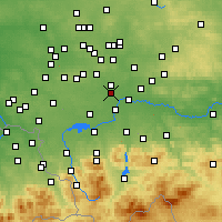 Nearby Forecast Locations - Bieruń - Map