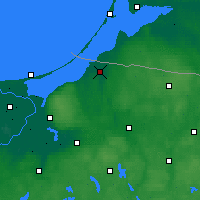 Nearby Forecast Locations - Braniewo - Map