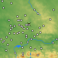 Nearby Forecast Locations - Dąbrowa Górnicza - Map