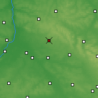 Nearby Forecast Locations - Janów Lubelski - Map