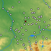 Nearby Forecast Locations - Knurów - Map