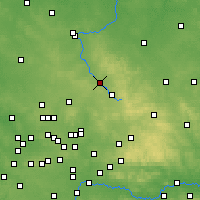 Nearby Forecast Locations - Myszków - Map